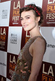 Keira Knightley smiled at the LA premiere of Seeking a Friend For the End of the World.