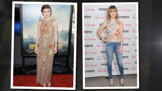 Wear Floral Appliqué For Day or Night Like Emma Roberts and Keira Knightley!