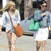 Kristen Bell and Rachel Bilson Matching Coach Bags