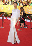 Zoe stunned in an ethereal white Givenchy Couture gown at the 2012 SAG Awards.