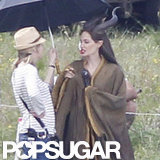 Angelina Jolie shot Maleficent in England.