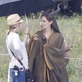 Angelina Jolie Maleficent Costume Set Pictures