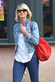 Cameron Diaz hung out in NYC solo.