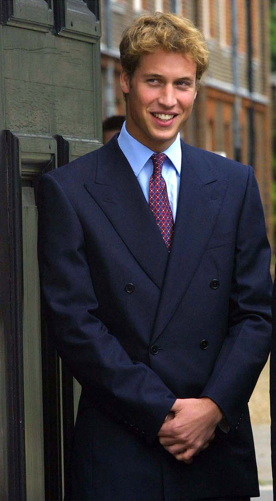 Prince William had fun celebrating the queen mother's 101st birthday in London in August 2000.