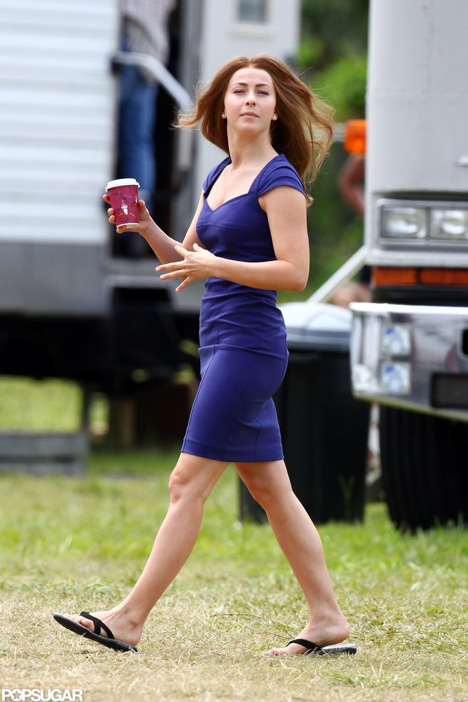Julianne Hough is working on location in North Carolina.