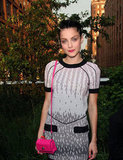 Jessica Stam wore bright lips to Coach's Summer Party on the High Line in NYC.