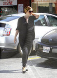 Pregnant Drew Barrymore wore all black in LA.
