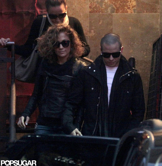 Jennifer Lopez Tries Out a New Look on Tour With Casper Smart