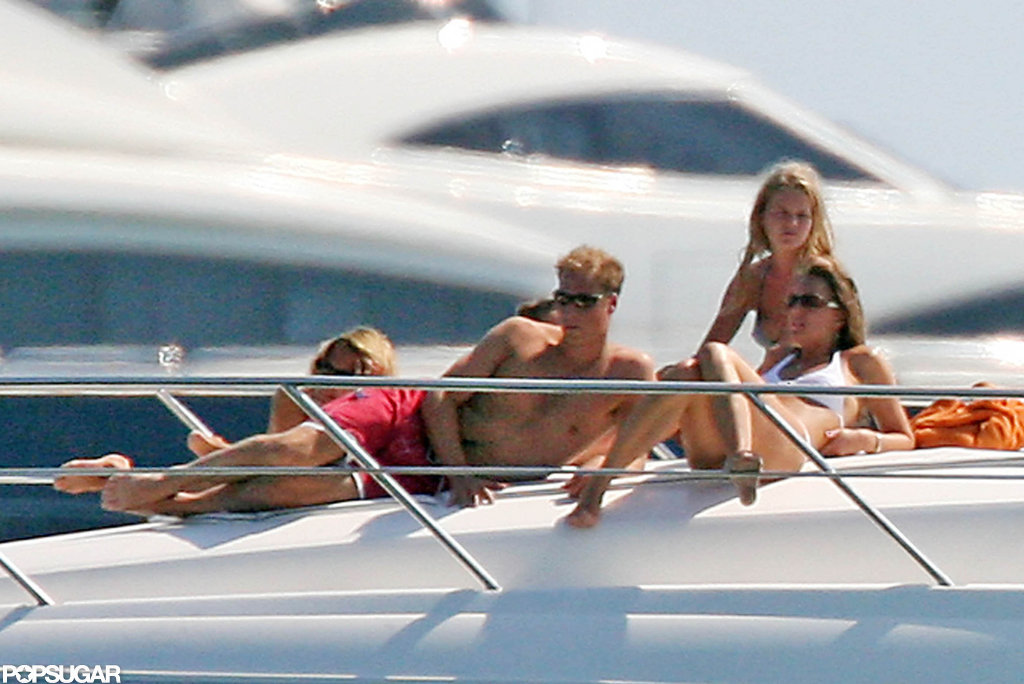 Shirtless Prince William vacationed in Ibiza with bikini-clad Kate Middleton in September 2006.