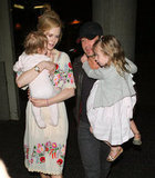Nicole and Keith carried their girls through LAX in April 2012.