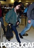 Kristen Stewart made her way through the airport in Sydney.
