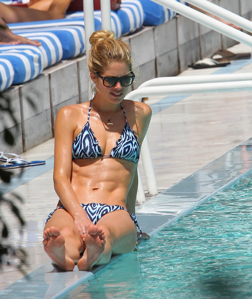 Doutzen Kroes lounged by the pool in Miami.