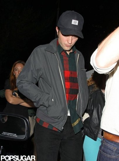 Robert Pattinson stepped out to a friend's gig in LA.