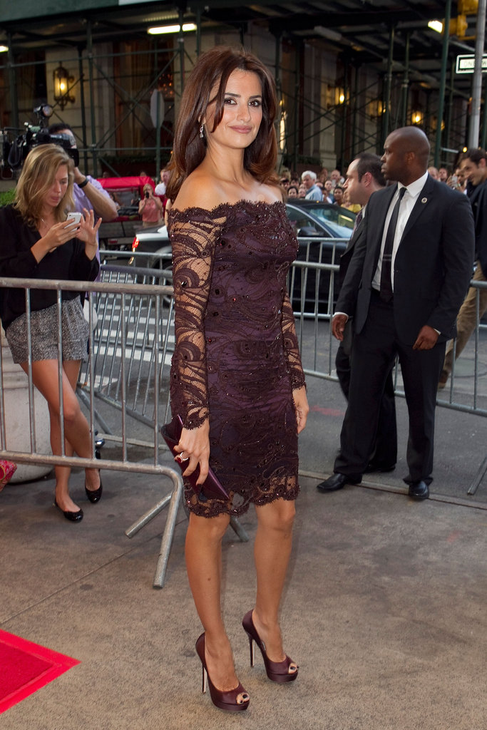 Penelope Cruz wore Emilio Pucci to a screening.