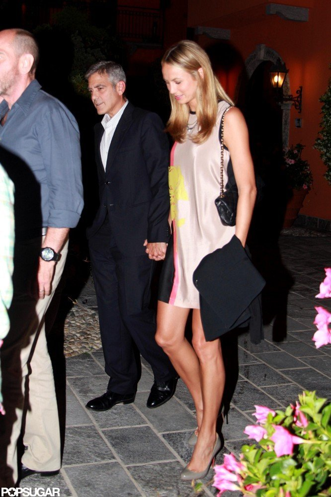 George Clooney and Stacy Keibler stuck together.