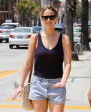 Jennifer Lawrence was all smiles on the sunny day.