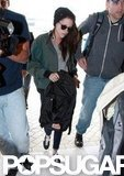 Kristen Stewart departed from Sydney's airport.