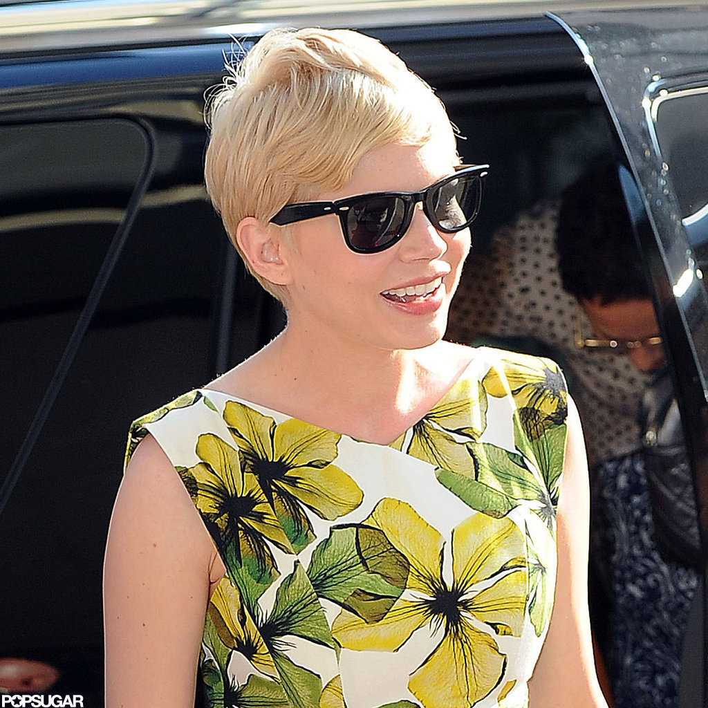 Michelle Williams flashed a smile.