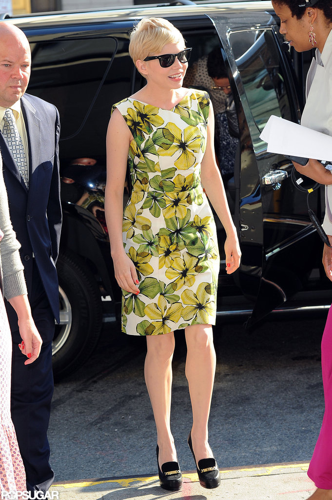 Michelle Williams arrived at CBS studios.