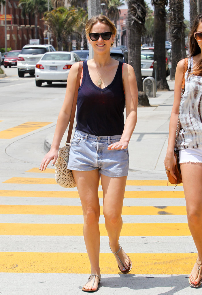 Jennifer Lawrence was all smiles in Santa Monica.