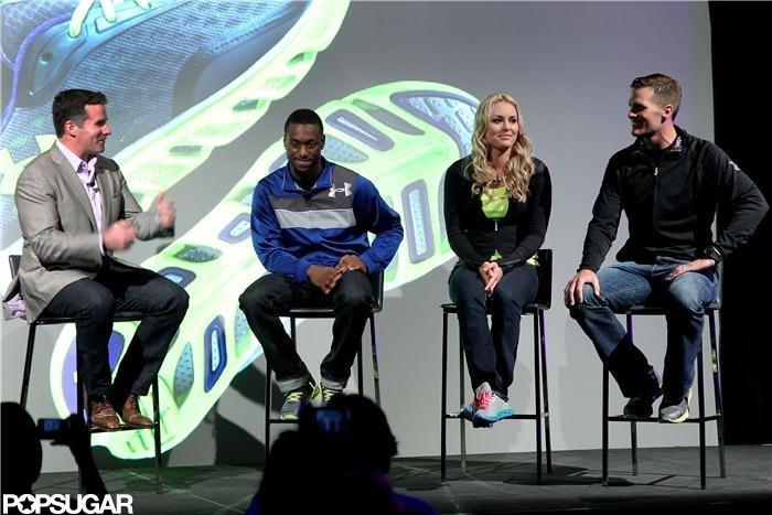 Tom Brady sat on stage at an Under Armour event in NYC.