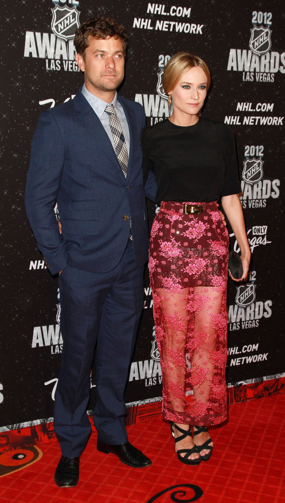 Diane Kruger and Joshua Jackson posed on the red carpet at the 2012 NHL Awards in Las Vegas.
