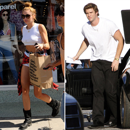 Miley Shows Skin While Shopping as Liam Gets Down to Work