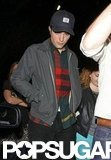 Robert Pattinson wore a flannel shirt under a jacket in LA.