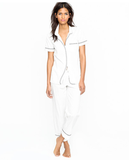 We're all about the pajama pant trend, so it's up to you: wear these at home on the couch, or style them up with heels and a blazer for a more on-trend approach.   J.Crew Vintage Short-Sleeve Pajama Set ($78)