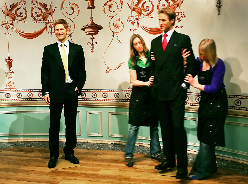 Workers at Madame Tussauds got Wills into position.