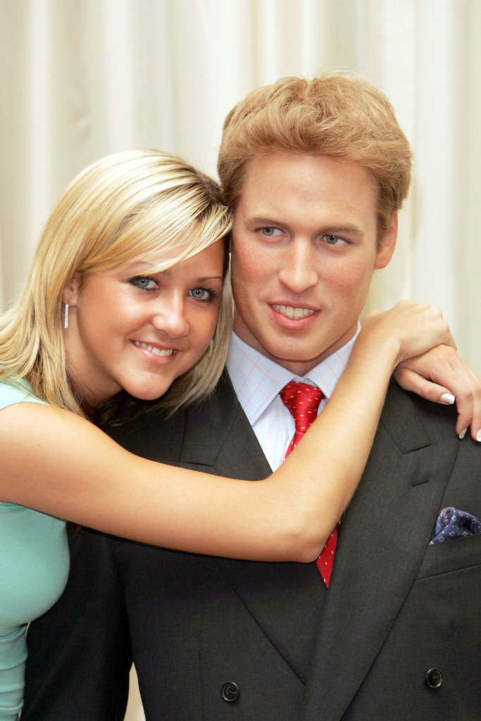 A girl got close to William's waxwork in London in 2005.