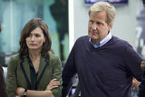 Emily Mortimer and Jeff Daniels on The Newsroom.