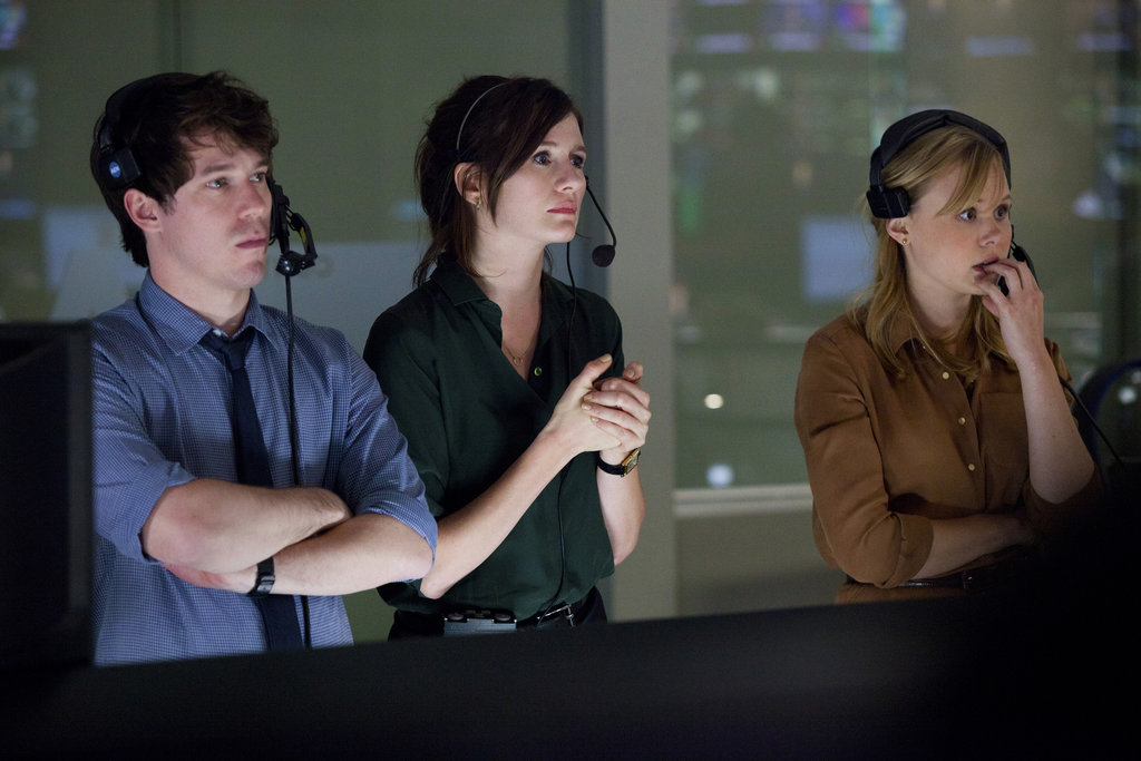 John Gallagher Jr., Emily Mortimer, and Alison Pill on The Newsroom.