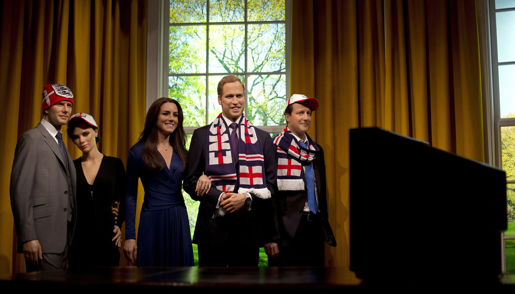 The Cambridges were joined by David and Victoria Beckham and Prime Minister David Cameron.