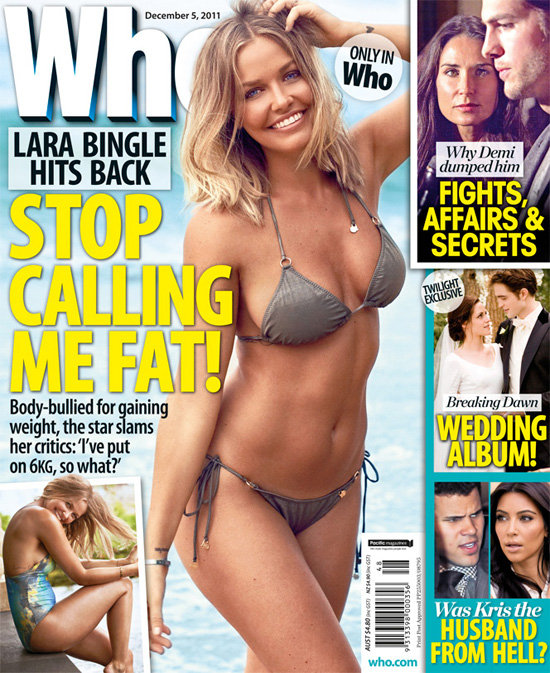 Lara showed off her bikini body on a Who magazine cover.