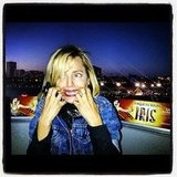 Mena Suvari was afraid to ride a roller coaster. Source: Instagram user mena13suvari