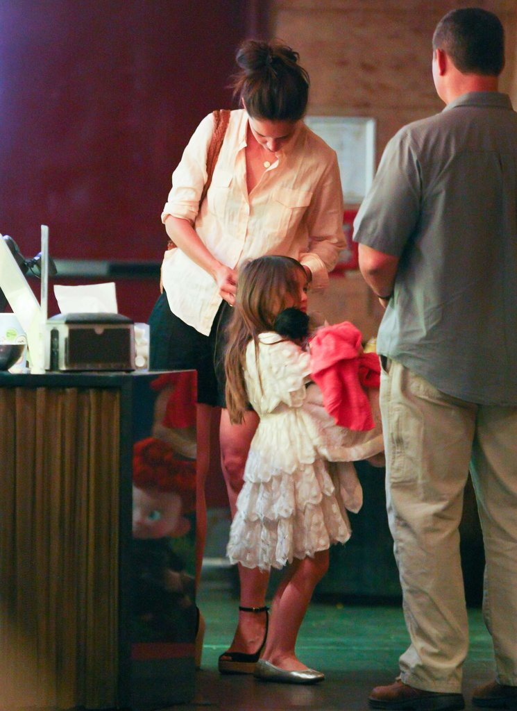 Katie Holmes and Suri Cruise Have a Dressed Up Movie Date