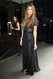 Bianca Brandolini D'Adda at the Dolce & Gabbana Men's Spring 2013 show in Milan.