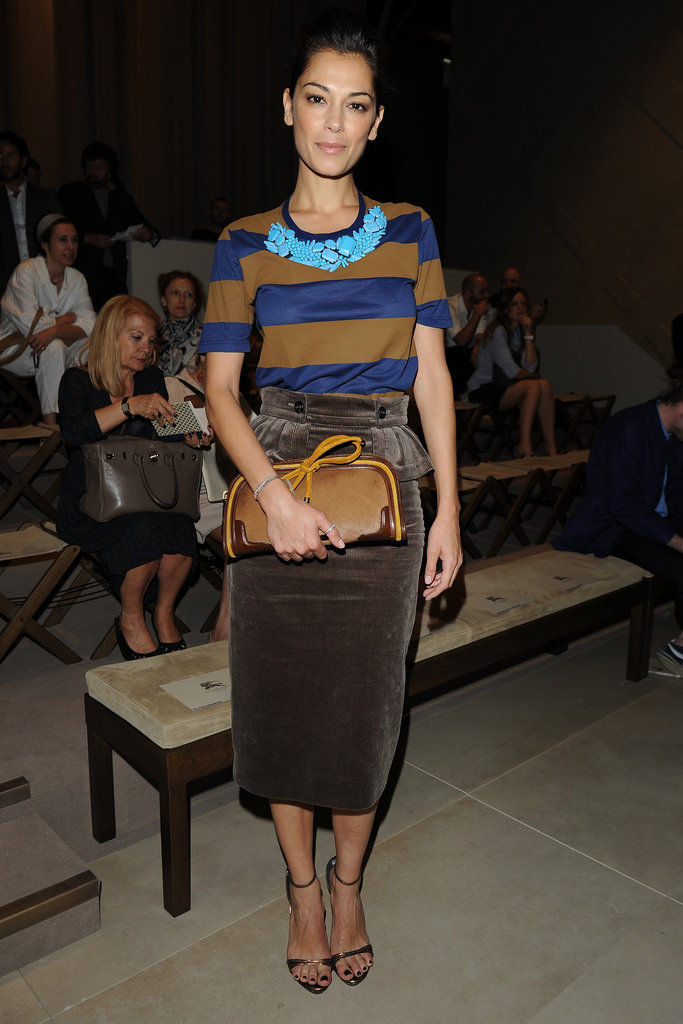 Giorgia Surina front row at the Burberry Prorsum Men's Spring 2013 show in Milan.