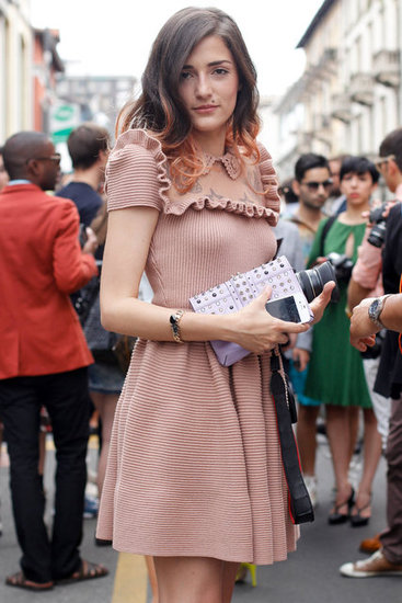 Eleonora Carisi at Men's Spring 2013 Fashion Week in Milan.