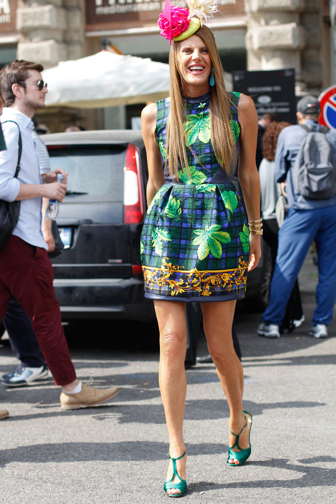 Anna Dello Russo in Milan for Men's Spring 2013 Fashion Week.