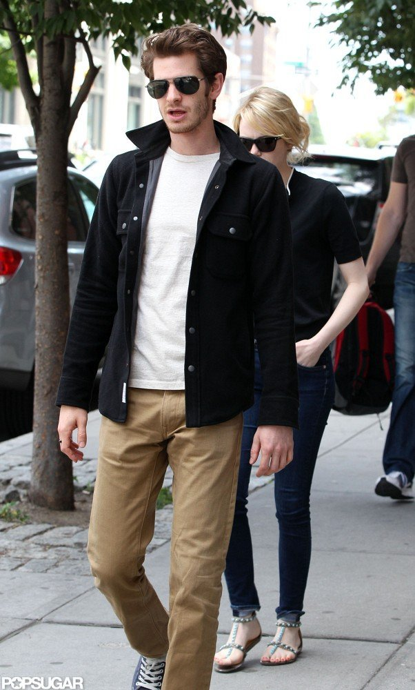 Looking cool in his shades, Andrew Garfield hit the Big Apple in June 2012.