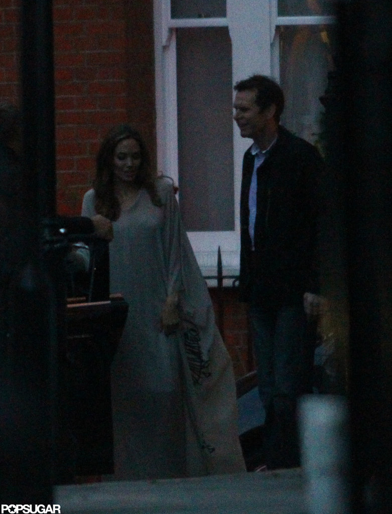 Angelina Jolie dined at Rasoi restaurant with friends.
