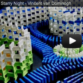 "Van Gogh ""Starry Night"" Domino Video"