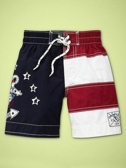 Little Boys: Baby Gap Stars and Stripes Swim Trunks ($17, originally $25)