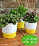 {DIY} Lacquered Pots