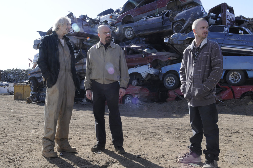 Larry Hankin, Bryan Cranston, and Aaron Paul on Breaking Bad. Photo courtesy of AMC