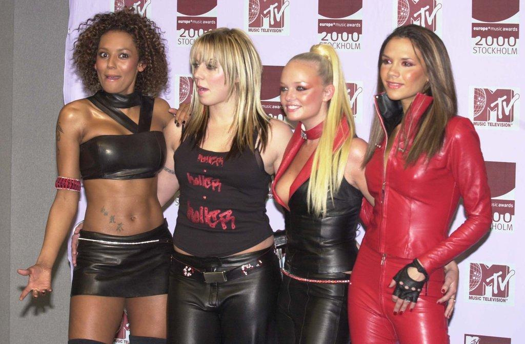 The Spice Girls snapped photos backstage at the November 2000 MTV European Music Awards in Stockholm.