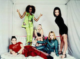 The Spice Girls struck a pose in 1997 in an array of bright colors and sleek minidresses.