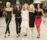 Geri, also known as Ginger Spice, stood out in the Spice Girls in a bohemian dress at a photo op in 2007.